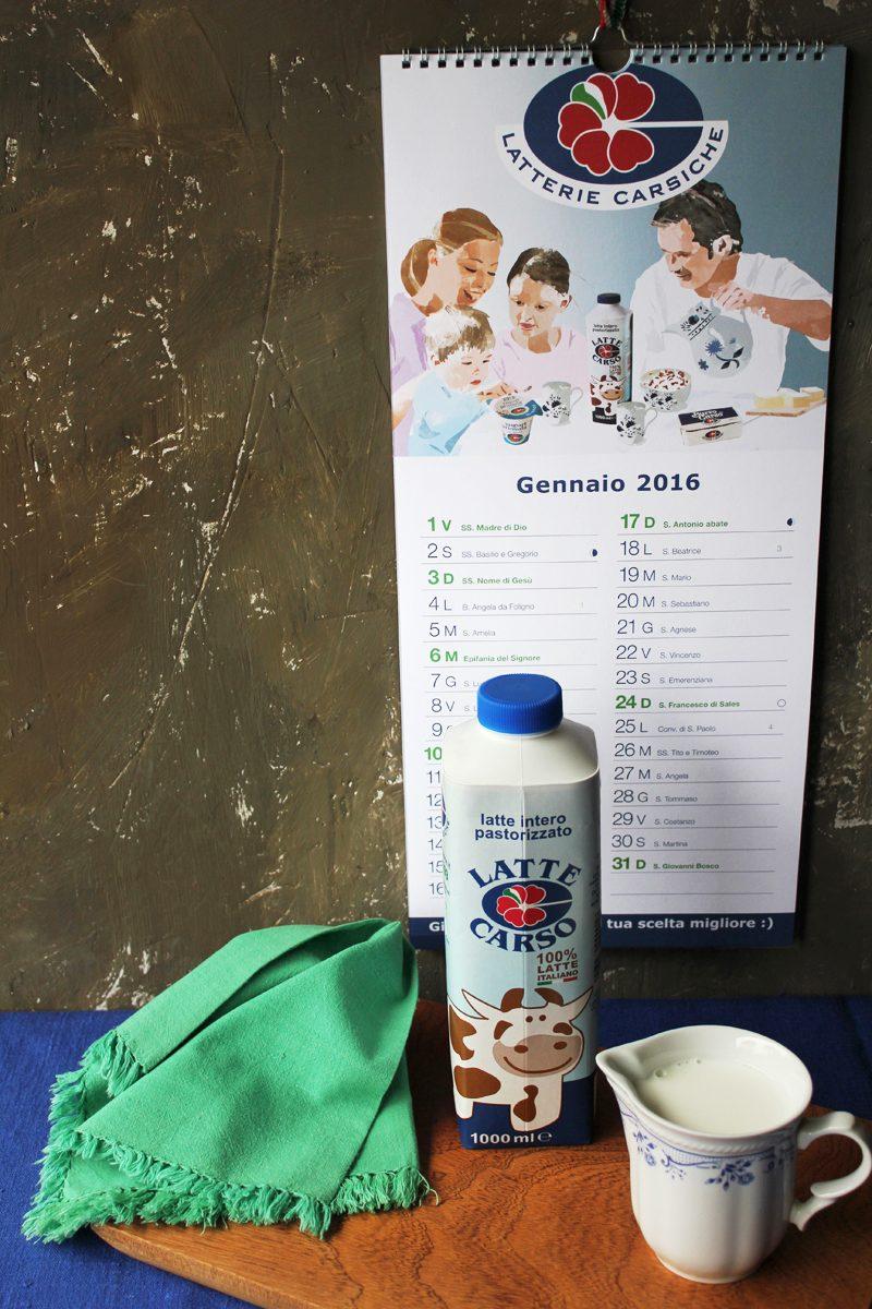 Latterie Carsiche – packaging e calendario