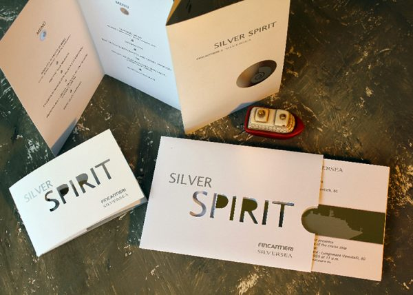 Silver Spirit – invitation, menu