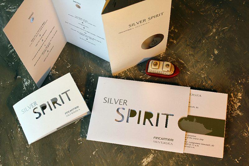 Silver Spirit – invitation, menu